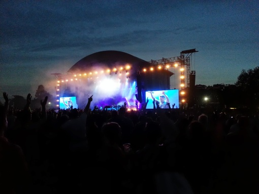 The Killers in action in the Phoenix Park