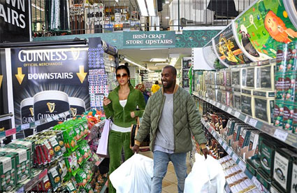 Kimye indulge in a bit of shopping on Grafton Street (Image: sugarscape.com)