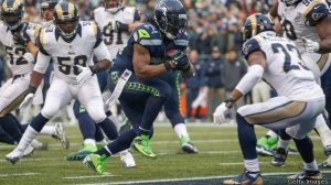 Reigning Superbowl Champions Seattle Seahawks in action